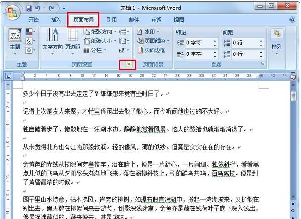 Word如何设置每页的行数和字数